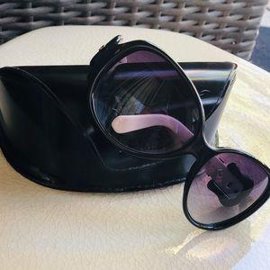 Authentic Black and White Fendi Buckle Sunglasses